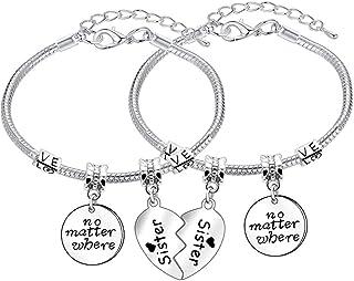 Coppia di braccialetti, ideali per migliori amiche e sorelle (lingua italiana non garantita)