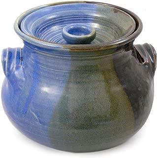 American Made Stoneware 2.25-Quart Bean Pot, Lakeside Blue