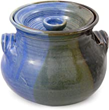 product image for American Made Stoneware 2.25-Quart Bean Pot, Lakeside Blue