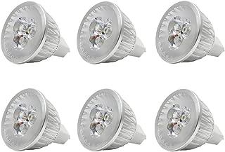 JKLcom MR16 LED Light Bulbs 3W MR16 Base LED 12V 3W(20W Halogen Bulb Equivalent) Cool White LED Bulb Spotlight Bulbs for Landscape Recessed Lighting,12V Low Voltage,6000K Cool White,Not Dimmable,6Pack