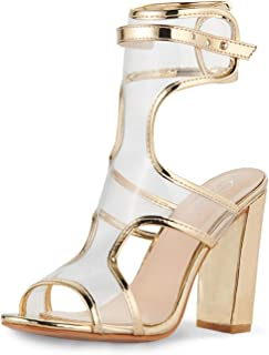 Women's Fashion Chunky High Heel Sandal Pump Shoe