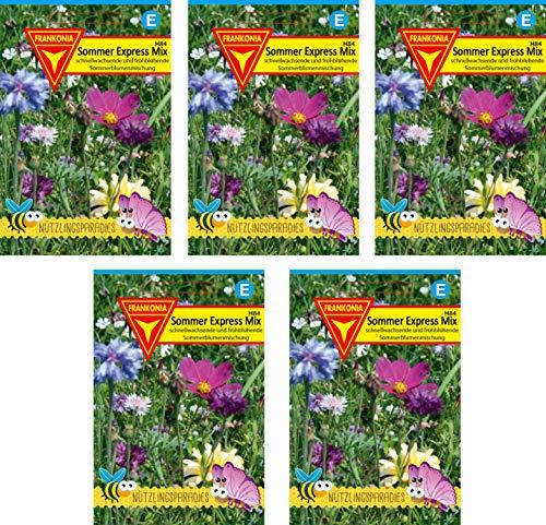 Frankonia-zaden/zomer Express Mix/mengsel van 20 verschillende zomerbloemenzaden/vroegbloeiend en snel groeiend/voor een kleurrijke en pollenrijke bloemenweide