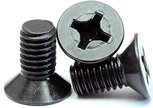 (10) M2-0.40 x 4mm - Phillips Flat Head Machine Screw (Countersunk) Class 4.8 Carbon Steel w Black Oxide Cross Recessed Type H Metric DIN 965 - MonsterBolts (10, M2 x 4mm)