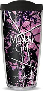 Muddy Girl Black Pink Camo Tumbler, 16oz with Black Lid