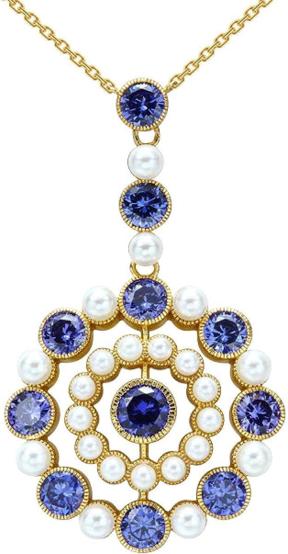 4 years warranty Exquisite cornflower zircon shell New sales female antique necklace beads