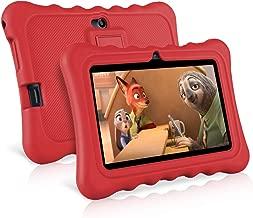 Ainol Q88-(tablet para niños con wifi de 7 pulgadas,Tablet infantil de Android 7.1, regalo para niños,Quad Core 1GB+8GB,Soporta Tarjeta TF 64GB?doble cámara,juegos educativos) Rojo
