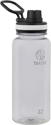 Takeya 50274 Tritan Sports Water Bottle, 32 oz, Clear