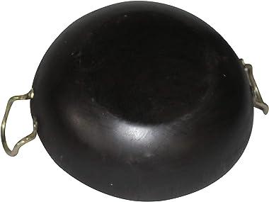 """1.5 Ltrs Deep Frying Pan Iron Kadai Cooking Kadhai Wok 1.5 Liter Iron Wok 9"""""""