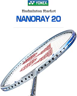 Yonex NANORAY 20 NEW Badminton Racket 2017 Racquet Silver/Blue 3U/G5 Pre-strung with a Half-length Cover (NR20-Silver/Blue)