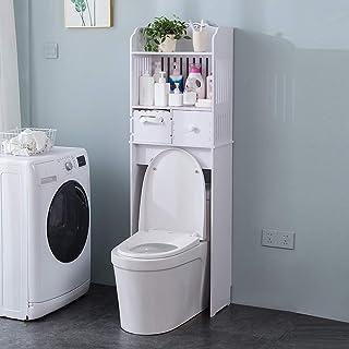 Mueble de baño para Inodoro Resistente al moho Estantería de Almacenamiento para Inodoro con 2 Estantes y 2 Cajóns 148 ...