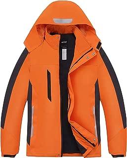 Men's Waterproof Windproof Jacket Snow Ski Jackets Winter Hooded Mountain Fleece Outwear Rain Coat