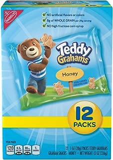Teddy Grahams Honey Graham Snack Packs, 12 Count Individual Snack Bags