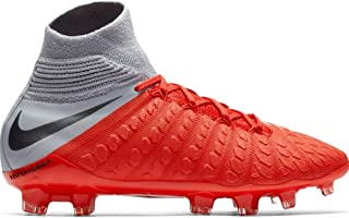 Junior Hypervenom 3 Elite DF FG Soccer Cleats (Light Crimson/Metallic Dark Grey/Wolf Grey)