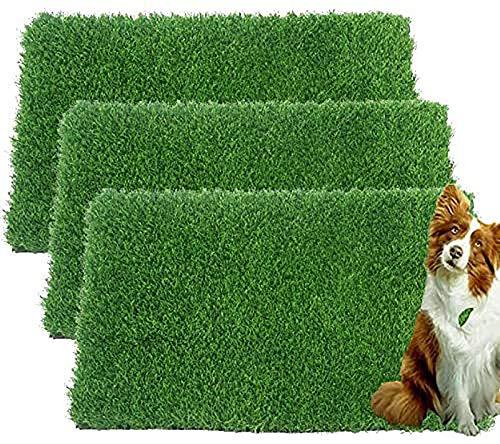 Künstliche Grasmatte für Hunde und Welpen, für den Innenbereich, 3 Stück