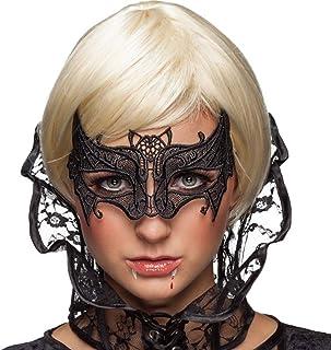 Women Black Lace Mask,Batman Veil Queen Eye Mask for Halloween Masquerade