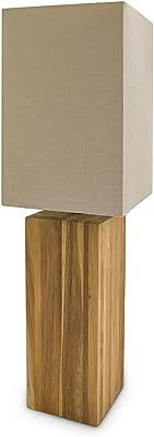 Relaxdays 10019079 Lampe de table, Bois, 60 W