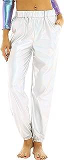 NUOVI donna stretch con coulisse elasticizzata Baggy Plain Harem Pants Plus Size