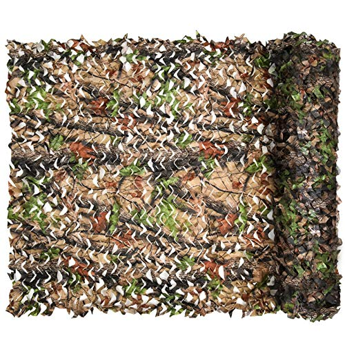 iunio Camo Netting, Camouflage Net, Bulk Roll, Mesh, Cover, Blind for...