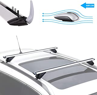 ROADFAR Silver Roof Rack Side Rails Aluminum Top Side Rail Carries Luggage Carrier Fit for 2014-2016 Nissan Rogue Sport Utility Baggage Roof Side Rail