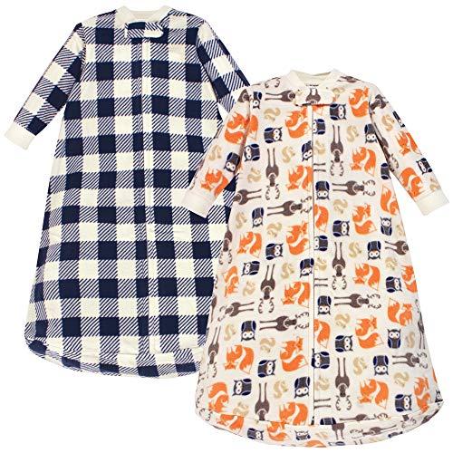 Hudson Baby Unisex Baby Long-Sleeve Fleece Sleeping Bag, Forest, 0-9 Months US