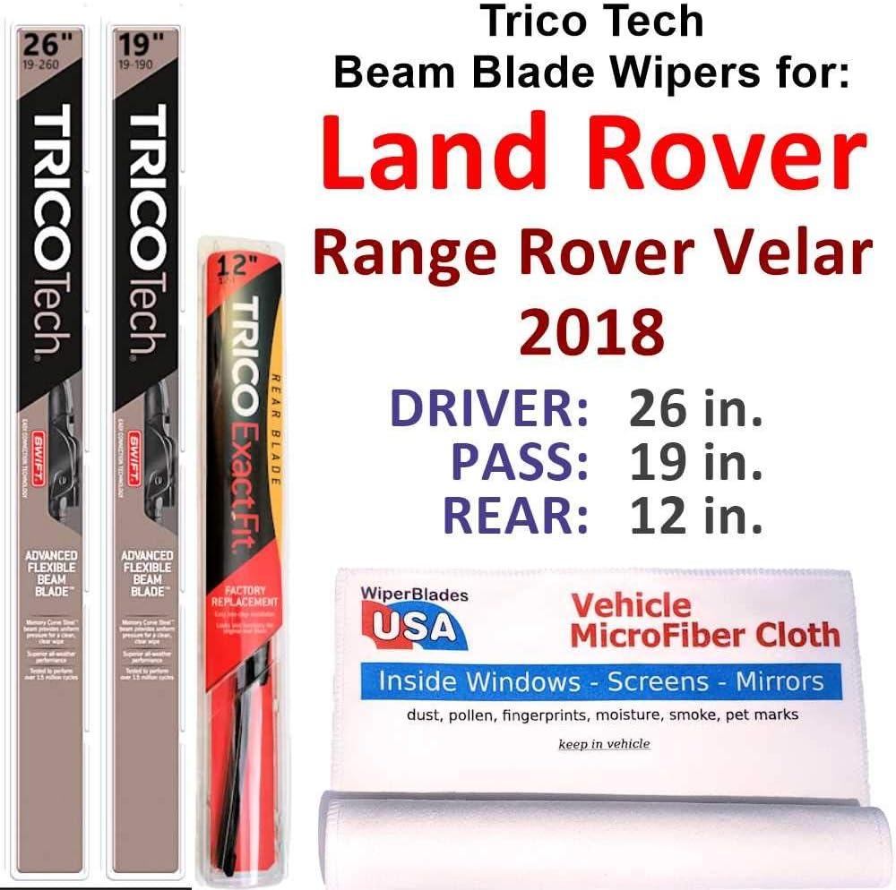 Beam Blades Luxury goods Wipers for 2018 Land R Rover Range Velar Set w Manufacturer OFFicial shop