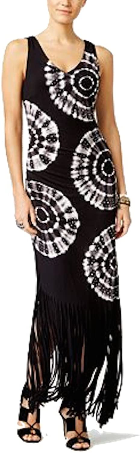 INC International Concepts Women's TieDyed Fringe Maxi Dress (PP)