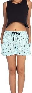 NITE FLITE Women's Paris I Love You Printed Cotton Shorts