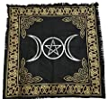 vrinda Altar Tarot Cloth, Triple Moon/Goddess with Pentagram