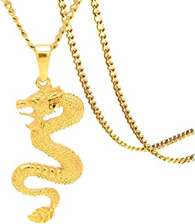 Best gold dragon necklace Reviews