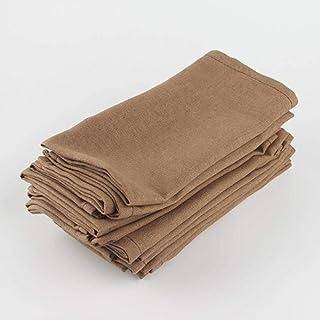 QINS Lot de 12 Pcs Serviettes en Tissu 40x40Cm Coton Linge Serviettes NapperonTableÀManger Serviettes Mat Enfants Tab...