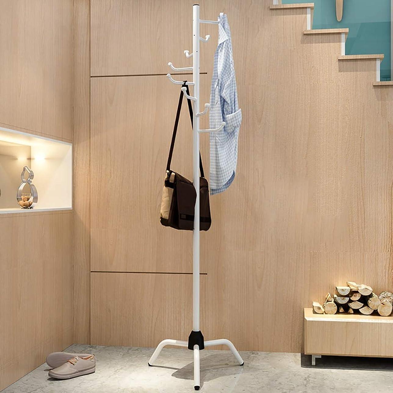 糸ジェット絶望的な丈夫 帽子ハンガー、複数のフックヘビーハンガーハンガーハンガーホールフックオフィスエントランス178.5 * 50 Cm (Color : White)