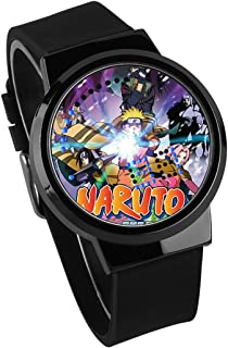 Montres Homme,Montre LED À Écran Tactile De Mode Animation Créative Naruto Entourant Une Montre Électronique Lumineuse Et ...