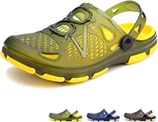 beister Mens Clogs Non Slip Water Shoes with Adjustable Strap, Lightweight Slip on Mules Garden Kitchen Outdoor Beach Yard...