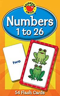 Numbers 1 to 26 Flash Cards, Grades PK - 1 (Brighter Child Flash Cards