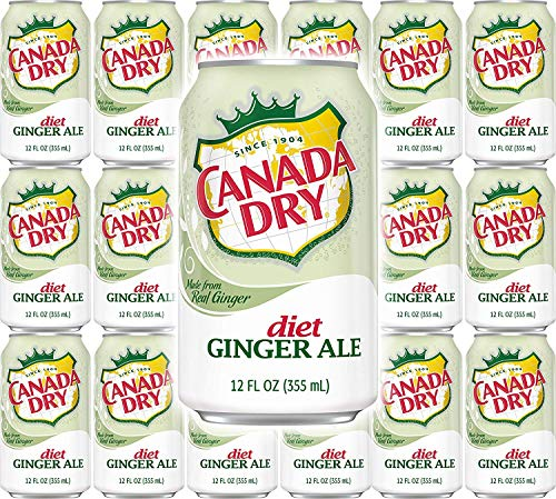Canada Dry Diet Ginger Ale, 12oz Can (48 Cans)
