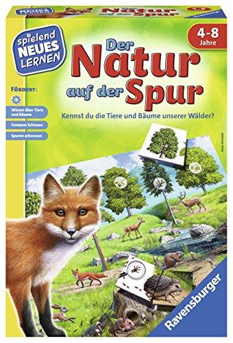 Ravensburger 25041 - Der Natur auf der Spur - Spielen und Lernen für Kinder, Lernspiel für Kinder von 4-8 Jahren, Spielend Neues Lernen für 2-4 Spieler