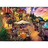 HUADADA Puzzle 1000 Teile Italien Comer See Kleinstadt,Farbenfrohes Puzzle für Erwachsene und Kinder ab 14 Jahren,Geschicklichkeitsspiel für die ganze Familie...