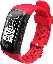 Waterproof GPS Smart Bracelet S908 Fitness Tracker Support Calls Messages Reminder Pedometer Heart Rate for Smartphones - Red