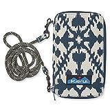 KAVU Go Time Wallet Bi-Fold Crossbody Clutch with Rope Strap - Blue Blot
