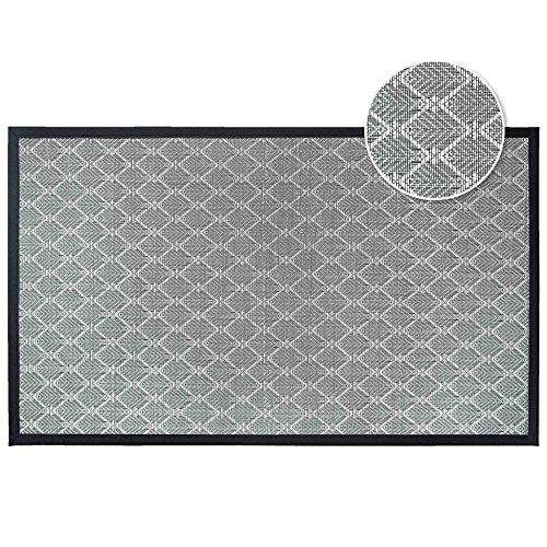 Déco Tapis 1740629 Triano - Alfombra Rectangular (PVC, 40 x 60 cm), Color Negro