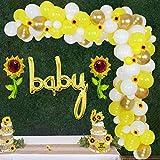 Sursurprise Decoraciones de Girasol para Baby Shower - Kit de Guirnalda de Globos de Sol con Cabezas de Girasol Artificiales, Globos de bebé de género Neutro para niña o niño