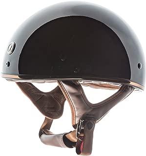 TORC Unisex-Adult Half-Size Style T5 Fiberglass Motorcycle Helmet Gloss Black Bronze SMALL