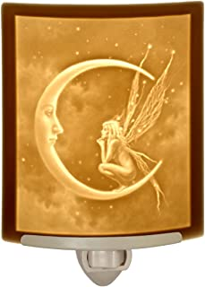 Fairy Moon by David Delamare Porcelain Lithophane Night Light