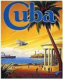 Kuba Reise-Poster Vintage Fluggesellschaft Reise-Poster