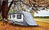 GREEN YARD IGYGAAPS0001 Abdeckplane für Wohnwagen oder Wohnmobile, 460 x 250 x 220 cm, Grau, S