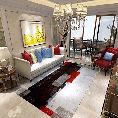 rutschfeste abstrakte tuscheppiche Wohnzimmer rechteckige couchtisch teppiche Schlafzimmer nachttischdecken hautfreundlich verblassen Nicht (Color : 120 * 160CM (47 * 63INCH))