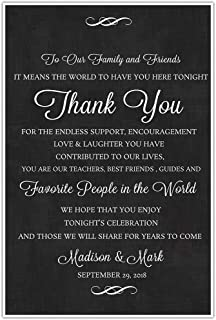 To Our Family and Friends Personalized Thank You Sign Wedding Ceremony Poster