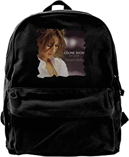 Celine Dion My Love Mochila de lona para gimnasio, senderismo, portátil, bolsa de hombro para hombres y mujeres