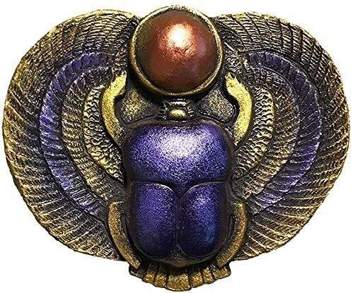 GAOYINMEI Escultura de escritorio Estatua Antigua Escarabajo Egipcio Escultura Amuleto Escultura Egipcia Decoración Artesanía Modelo Recuerdo Oficina Bar Decoración Figuras