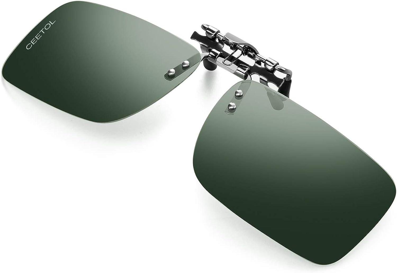 CEETOL Clip On Polarized Sunglasses for Men Women Day Night Anti Glare UV400 HD Night Vision HOT Fashion Sunglasses